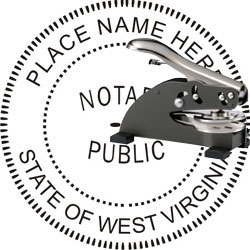 Notary Seal - Desk Top Style - West Virginia