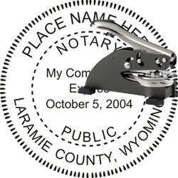 Notary Seal - Desk Top Style - Wyoming