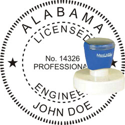 Engineer Seal - Pre Inked Stamp - Alabama