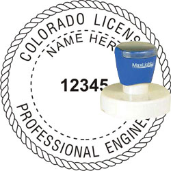 Engineer Seal - Pre Inked Stamp - Colorado