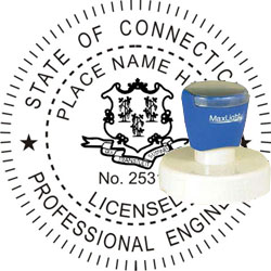 Engineer Seal - Pre Inked Stamp - Connecticut