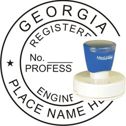 Engineer Seal - Pre Inked Stamp - Georgia