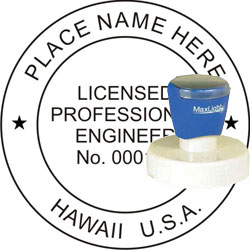 Engineer Seal - Pre Inked Stamp - Hawaii