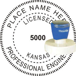Engineer Seal - Pre Inked Stamp - Kansas