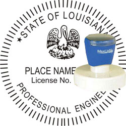 Engineer Seal - Pre Inked Stamp - Louisiana