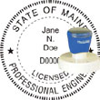 Engineer Seal - Pre Inked Stamp - Maine ENGINEER_STAMP_PRE_INKED_MAINE