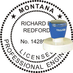 Engineer Seal - Pre Inked Stamp - Montana