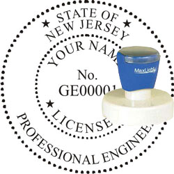 Engineer Seal - Pre Inked Stamp - New Jersey