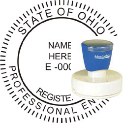 Engineer Seal - Pre Inked Stamp - Ohio