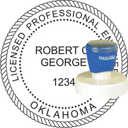 Engineer Seal - Pre Inked Stamp - Oklahoma