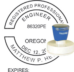 Engineer Seal - Pre Inked Stamp - Oregon