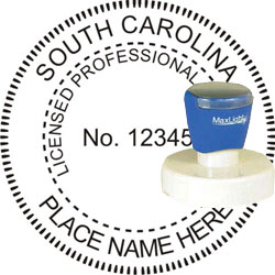 Engineer Seal - Pre Inked Stamp - South Carolina
