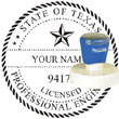 Engineer Seal - Pre Inked Stamp - Texas ENGINEER_STAMP_PRE_INKED_TEXAS