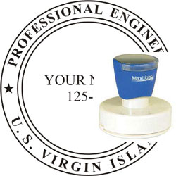 Engineer Seal - Pre Inked Stamp - Virgin Islands