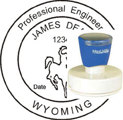 Engineer Seal - Pre Inked Stamp - Wyoming