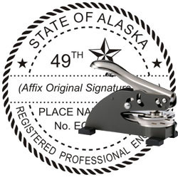 Engineer Seal - Desk Top Style - Alaska