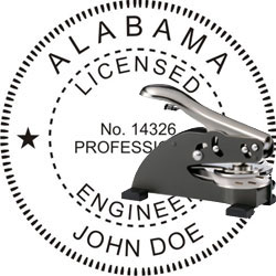 Engineer Seal - Desk Top Style - Alabama