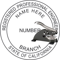 Engineer Seal - Desk Top Style - California