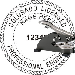 Engineer Seal - Desk Top Style - Colorado