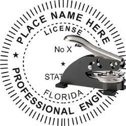Engineer Seal - Desk Top Style - Florida