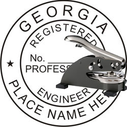 Engineer Seal - Desk Top Style - Georgia
