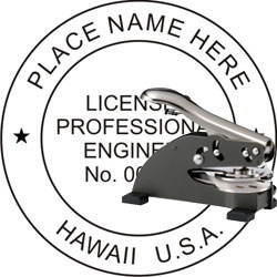 Engineer Seal - Desk Top Style - Hawaii