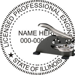 Engineer Seal - Desk Top Style - Illinois