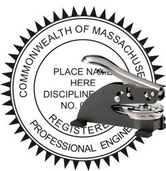 Engineer Seal - Desk Top Style - Massachusetts