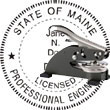 Engineer Seal - Desk Top Style - Maine ENGINEER_DESK_TOP_MAINE
