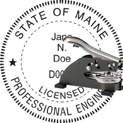 Engineer Seal - Desk Top Style - Maine