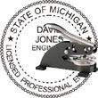 Engineer Seal - Desk Top Style - Michigan ENGINEER_DESK_TOP_MICHIGAN