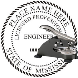 Engineer Seal - Desk Top Style - Mississippi