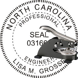Engineer Seal - Desk Top Style - North Carolina