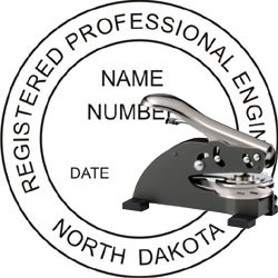 Engineer Seal - Desk Top Style - North Dakota