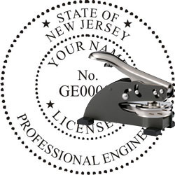 Engineer Seal - Desk Top Style - New Jersey