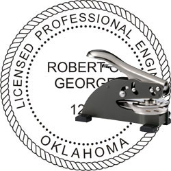 Engineer Seal - Desk Top Style - Oklahoma