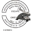 Engineer Seal - Desk Top Style - Oregon ENGINEER_DESK_TOP_OREGON