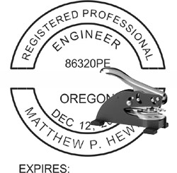 Engineer Seal - Desk Top Style - Oregon