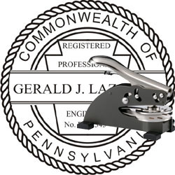 Engineer Seal - Desk Top Style - Pennsylvania