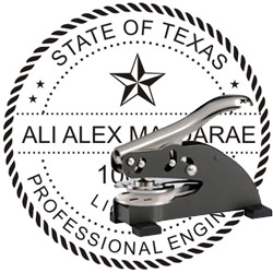 Engineer Seal - Desk Top Style - Texas