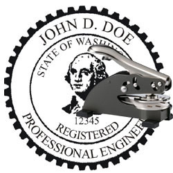 Engineer Seal - Desk Top Style - Washington