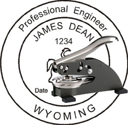 Engineer Seal - Desk Top Style - Wyoming
