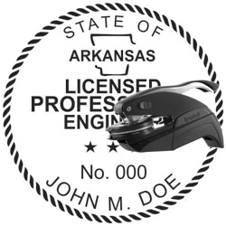 Engineer Seal - Pocket Style - Arkansas