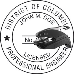 Engineer Seal - Pocket Style - Dist of Columbia