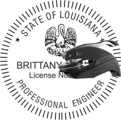 Engineer Seal - Pocket Style - Louisiana