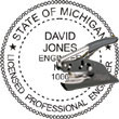 Engineer Seal - Pocket Style - Michigan ENGINEER_POCKET_SEAL_MICHIGAN