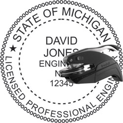 Engineer Seal - Pocket Style - Michigan