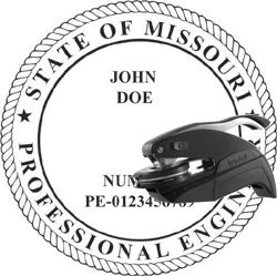Engineer Seal - Pocket Style - Missouri