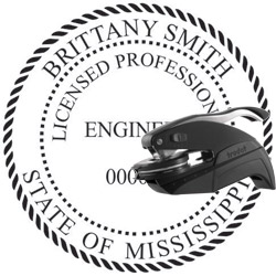 Engineer Seal - Pocket Style - Mississippi