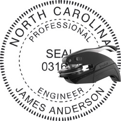 Engineer Seal - Pocket Style - North Carolina